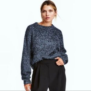 ✨ H&M Blue Sparkly Knitted Oversized Sweater ✨